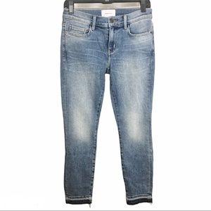 CURRENT/ELLIOTT Skinny Denim Released Hem Jeans 27